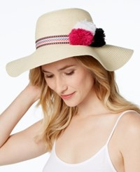 Inc International Concepts Pom Pom Floppy Hat Only At Macy's Natural Pink