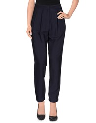 Mauro Grifoni Trousers Casual Trousers Women Dark Blue