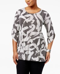 Alfani Plus Size Printed Tunic Only At Macy's Striped Grafitti