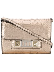 Proenza Schouler Embossed Python Ps11 Wallet With Strap Calf Leather Pink Purple
