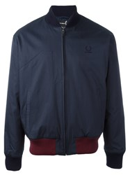 Fred Perry Raf Simons X Contrast Waist Bomber Jacket Blue