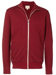 Bellerose Buddy Zip Sweatshirt Red