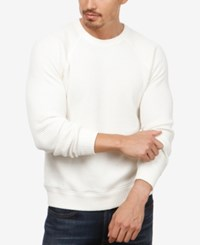 Lucky Brand Men's Textured Thermal Sweater Marshmellow White