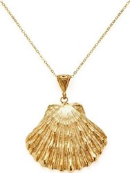 Ottoman Hands Shell Pearl Necklace Gold Plated