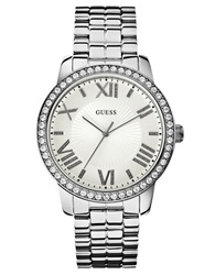 Guess Ladies Silvertone Luxe Oversized Watch