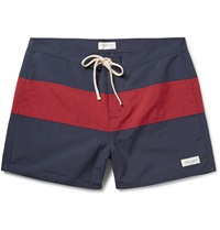 Saturdays Surf Nyc Grant Striped Swim Shorts Blue