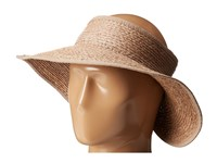 San Diego Hat Company Rhv1505 Raffia Roll Up Visor With Velcro Closure Nougat Casual Visor Bone