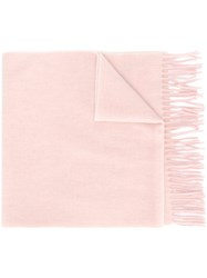Polo Ralph Lauren Fringed Scarf Pink And Purple