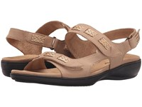 Trotters Kip Sand Nubuck Leather Women's Sandals Tan