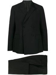 Z Zegna Fitted Two Piece Suit Black