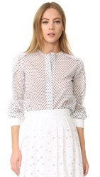 Amelia Toro Black Dotted Blouse Black Dotted Eyelet