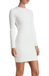 Women's Dress The Population 'Tori' Open Back Body Con Dress Ivory