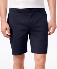 Dkny Men's Sateen Stretch Shorts Navy Blazer