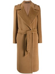 Tagliatore Molly Belted Coat Brown