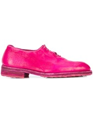 Guidi Lace Up Oxford Shoes Pink And Purple