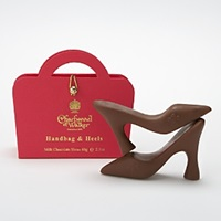 Charbonnel Et Walker Mini Milk Chocolate Shoes In Handbag Box