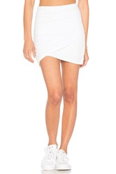 James Perse Wrap Skinny Skirt White