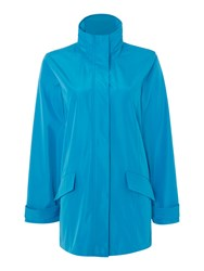 Tigi Stand Up Collar Coat Blue