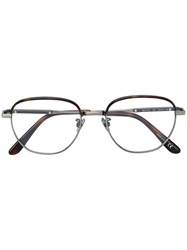 Bottega Veneta Eyewear Round Shaped Glasses Metallic