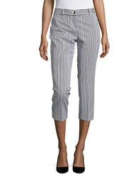 Michael Michael Kors Petite Miranda Striped Cropped Pants White