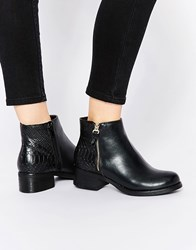 Miss Kg Janice Zip Flat Ankle Boots Black Synthetic