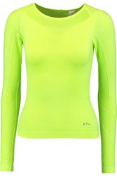 Athletic Propulsion Labs Neon Stretch Knit Top Chartreuse