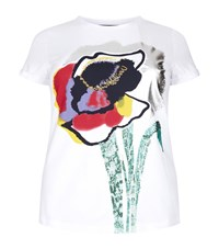 Marina Rinaldi Printed Cotton T Shirt White