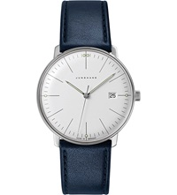 Junghans 041 4464.00 Max Bill Stainless Steel And Leather Quartz Watch Silver