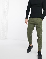 Hollister Skinny Fit Jogging Bottoms Green