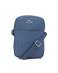 Lacoste Blue Embossed Bag With Shoulder Strap
