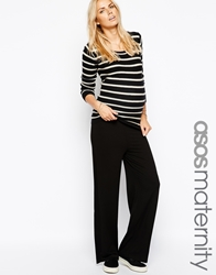 Asos Maternity Exclusive Lounge Pants With Fold Over Black