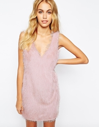 Fashion Union Flapper Style Dress In Fluffy Texture Babypink