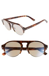 Web 52Mm Sunglasses Dark Havana Brown Mirror Dark Havana Brown Mirror