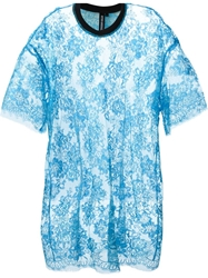 Astrid Andersen Lace T Shirt Blue