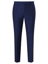 John Lewis Kin By Ayris Linen Wool Slim Suit Trousers Electric Blue
