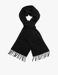Norse Projects X Johnstons Lambswool Scarf Black