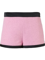 Moschino Tweed Shorts Pink And Purple