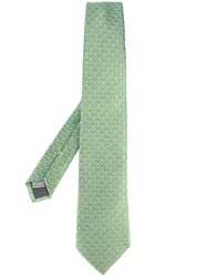 Canali Sunglasses Pattern Tie Green