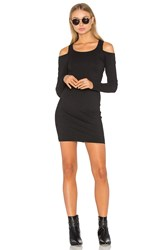 Chaser Cold Shoulder Bodycon Dress Black