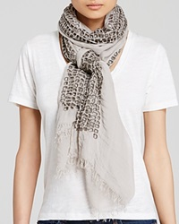 Elie Tahari Jaclyn Embroidered Eyelet Scarf Cocoa