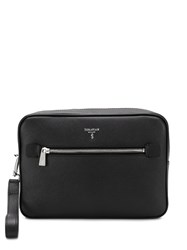 Serapian Zip Around Clutch Black