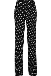Bottega Veneta Polka Dot Jersey Wide Leg Pants Black