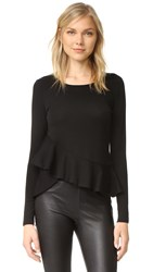 Club Monaco Dillmah Ruffle Sweater Black