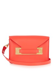 Sophie Hulme Milner Mini Envelope Leather Cross Body Bag Red