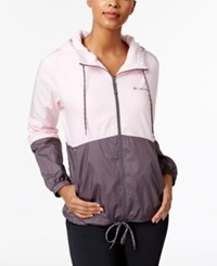 Columbia Flash Forward Fleece Lined Windbreaker Whitened Pink Pulse
