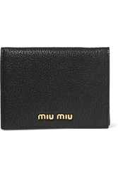 Miu Miu Textured Leather Wallet Black