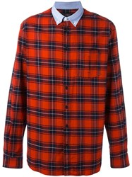 Joseph 'Clarendon Tartan' Shirt Red