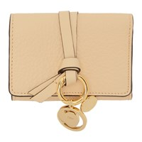 Chloe Beige Small Alphabet Compact Wallet