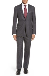 Hart Schaffner Marx Men's Big And Tall Classic Fit Solid Wool Suit Dk Grey