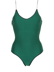 Oseree Swimwear Lycra One Piece Swimsuit With Lace Trim
